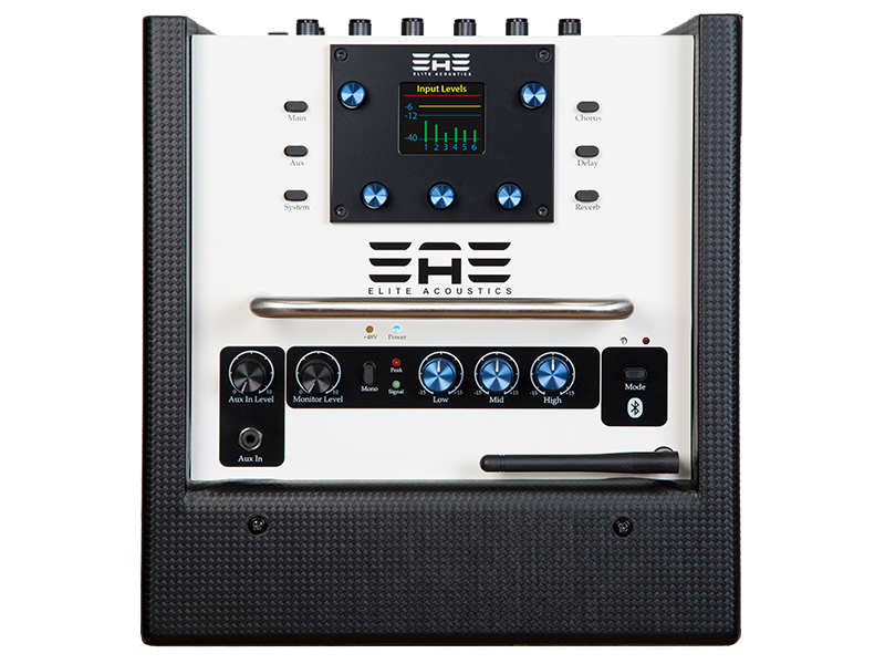 EAE - D6-8 rechargeable acoustic amplifier with bluetooth and built-in 6 channel digital mixer.