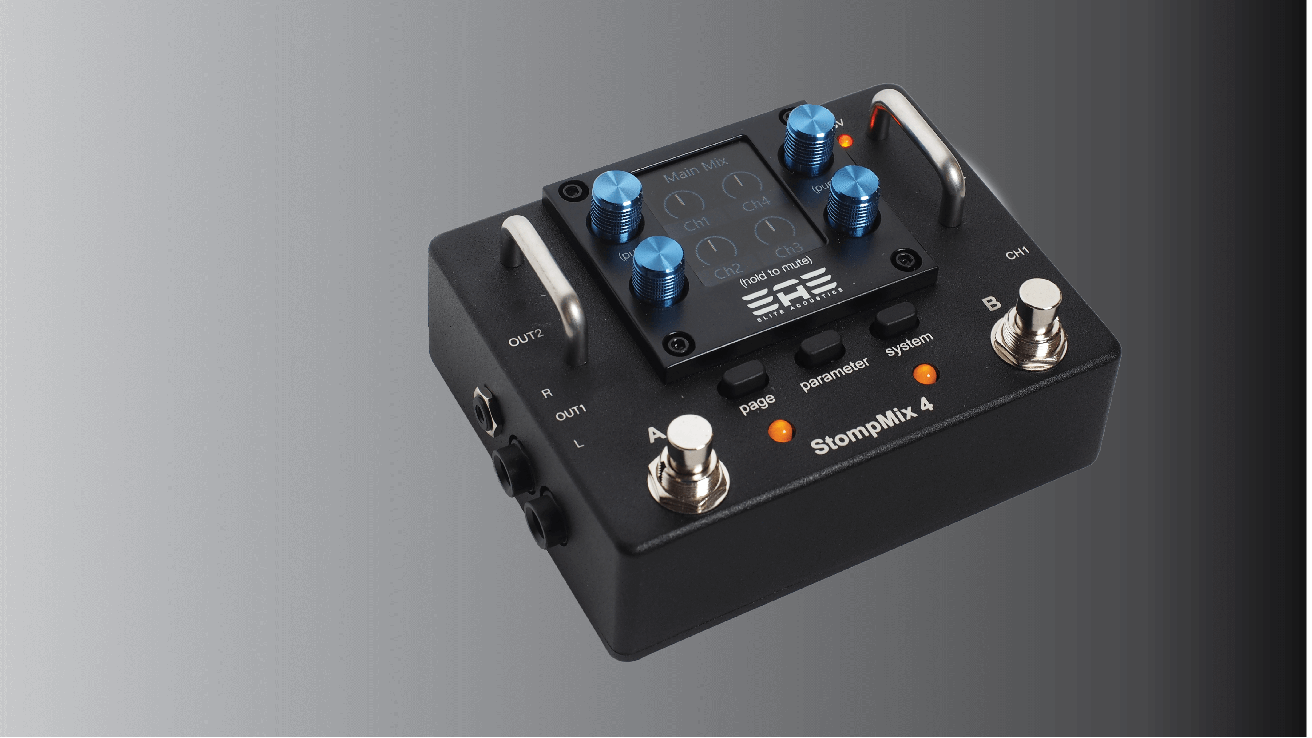 EAE StompMix X6 Lithium Battery Powered Pedalboard Mixer with Bluetooth