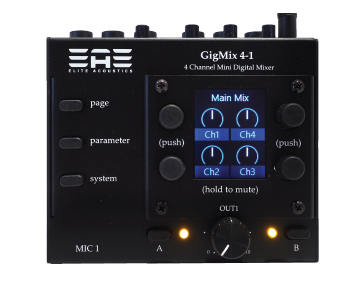 GigMix 4-1 mini digital mixer